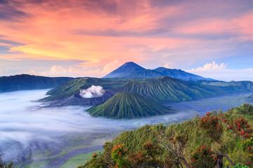 Bromo vocalno at sunrise, East Java, , Indonesia