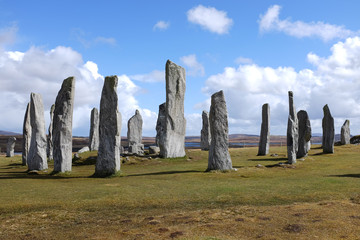 Door stickers Artistic monument Callanish standing stones.