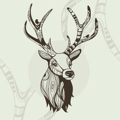 Awsome vector illustration of deer