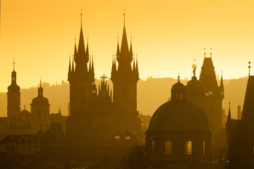 Printed kitchen splashbacks Prague prague - spires of the old town