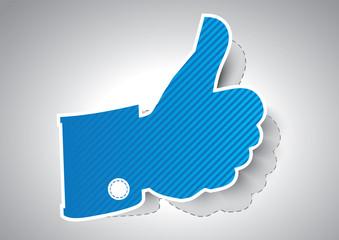 Like symbol / Thumbs up - Vector illustration