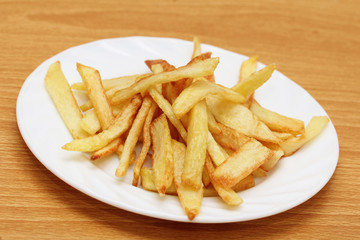 fried potato slices, potato chips