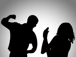 Fototapeta Ilustração sobre a violência doméstica - violência contra as mulheres obraz