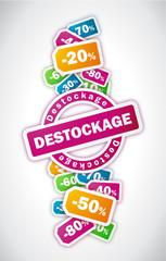Destockage - Illustration vectorielle