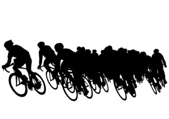 Wall Mural - Group of cyclists