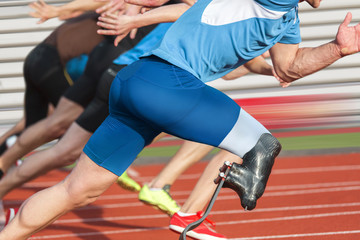 Disabled athlete race