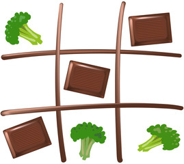 Chocolate Tic Tac Toe (Schokolade Drei Gewinnt)