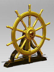 golden ship wheel