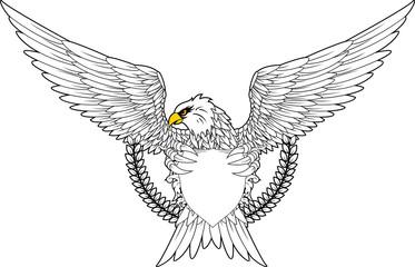Fury spread winged eagle insignia