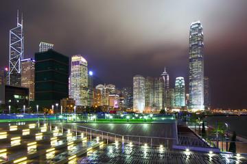 Hong Kong city night view