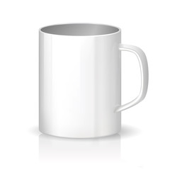 Photorealistic cup on white background