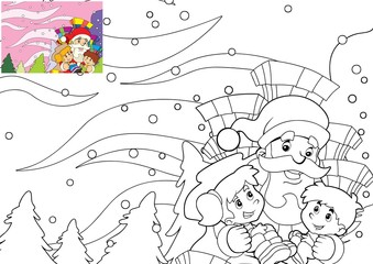 The page with exercises for kids - coloring book