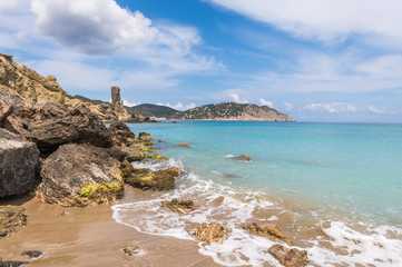Figueral beach in Ibiza