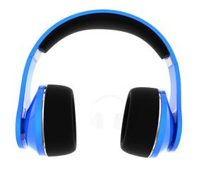 Blue headphones. Isolated on white background.