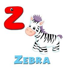 alfabeto, zebra