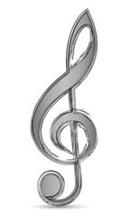 Grauer Violinschlüssel mit Pinsel-Effekt