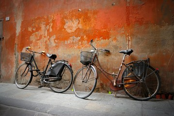 Tuinposter Fiets Italian old-style bicycles
