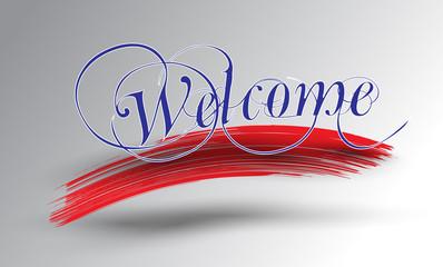 hoş geldiniz el yazısı (vektör)