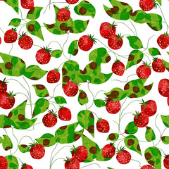 Bright strawberry seamless background