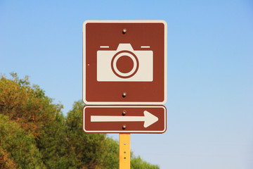 take picture here - sign by the roadside