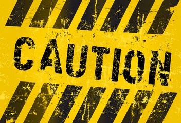 warning sign,caution, industrial, grungy style, vector