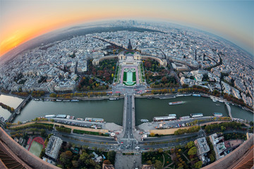 Fototapete - Paris vue panoramique