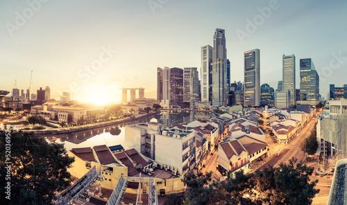 Wall mural Singapour skyline