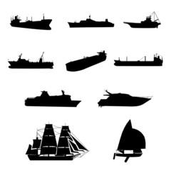 船シルエット