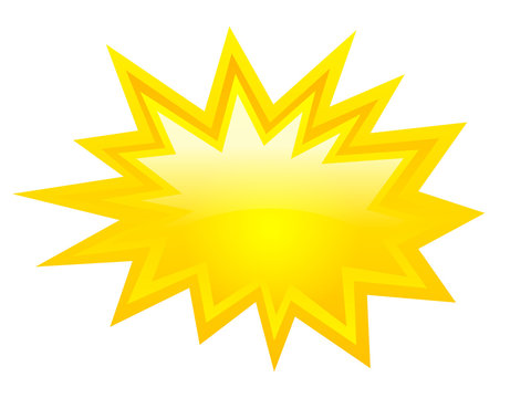 Vector yellow explosion star