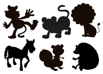 Animals in black colored images