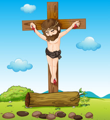 Jesus Christ at the cross