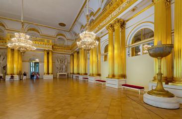 Interior of Winter Palace. Saint Petersburg