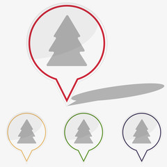 Vector illustration web  buttons pointer - fir tree