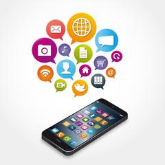 smartphone, logo, cloud