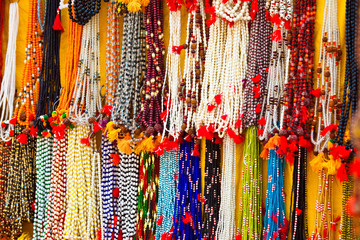 bright beads. Decorative ornaments for women