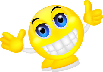Smiley emoticon waving hand