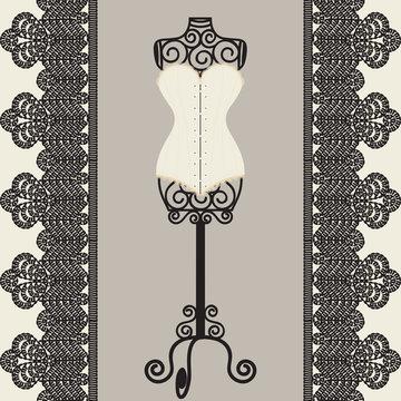 mannequine and corset