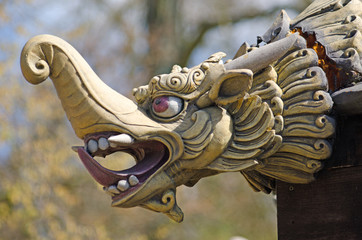 Chinese pagoda dragon head