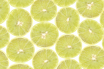 background of slice yellow lime
