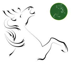 Vector image of an horse , illustration - vector