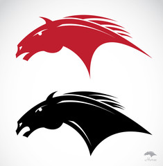 tribal horse head tattoo - vector illustration
