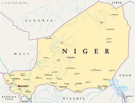Niger Map ( Niger Landkarte )