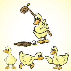 R&R Rupert Duck Poses 2