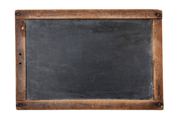 Poster Retro Blank vintage chalkboard isolated on white