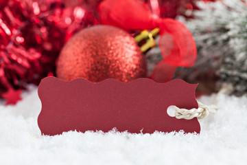 Weihnachtskarte mit Schild