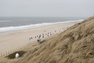Schlechtes Wetter am Strand