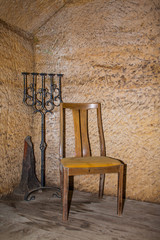 Chair with candlesstick