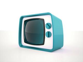 Old TV tiris on white background