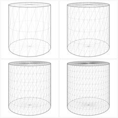 Cylinder From The Simple To The Complicated Shape Vector 08