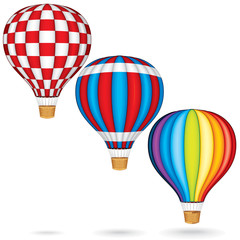 Hot Air Balloons with Woven Gondola.